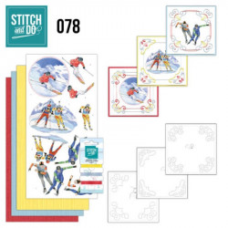 Stitch and Do 78 Carterie 3D broderie - Sport d'hiver