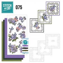 Stitch and Do 75 Carterie 3D broderie - hortensias