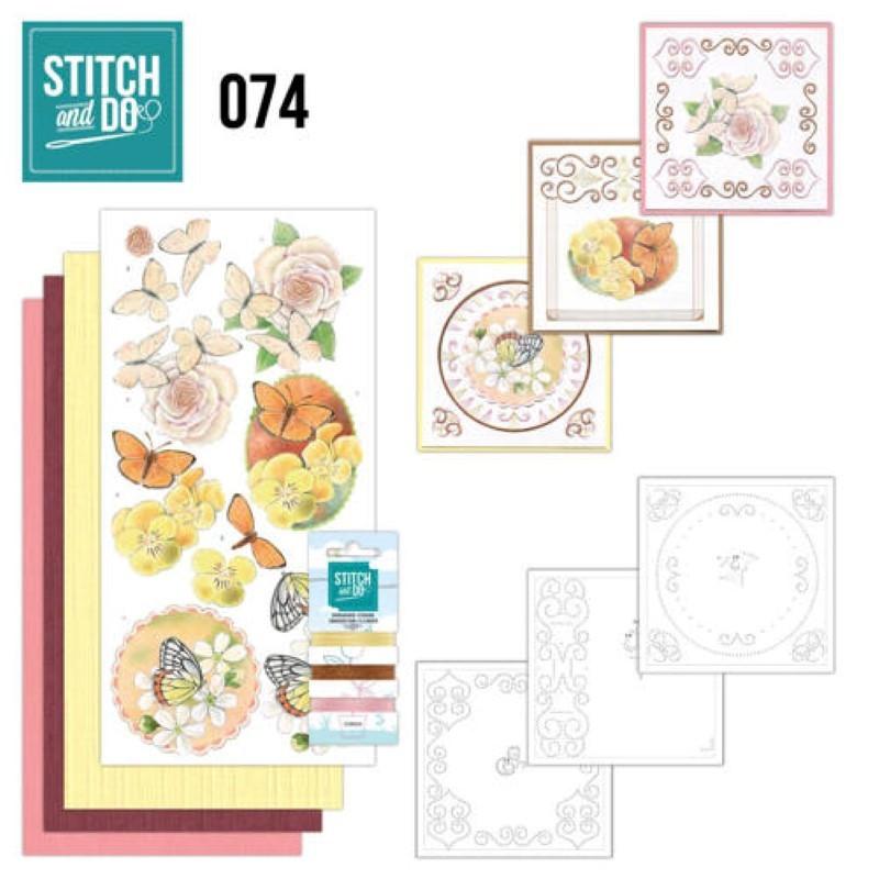 Stitch and Do 74 Carterie 3D broderie - Fleurs et papillons