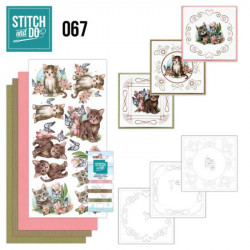 Stitch and Do 67 Carterie 3D broderie - Chats