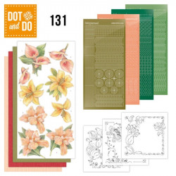 Dot and do 131 - kit Carte 3D - fleurs jaunes