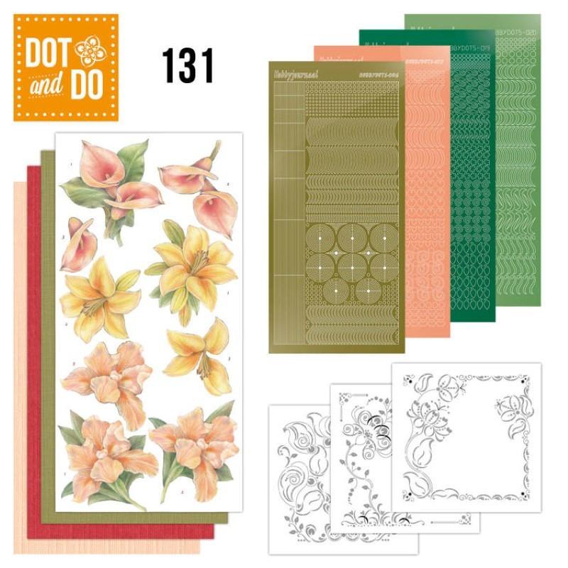 Dot and Do 131 - Kit Carterie 3D - Fleurs jaunes