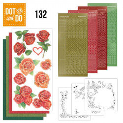 Dot and do 132 - kit Carte 3D - roses
