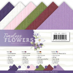 Set 24 cartes Timeless Flowers 13.5x27cm