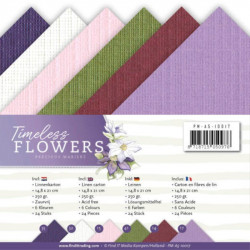 Set 24 cartes Timeless flowers  A5