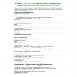 Contrat de location pour locaux non meublés