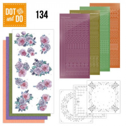 Dot and do 134 - kit Carte 3D - Fleurs pourpres