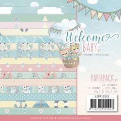 Bloc de papier - yvonne creations - Welcome baby 15 x 15 cm