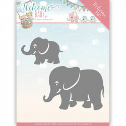 Dies - yvonne creations - Welcome Baby - Petits éléphants