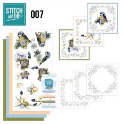 Stitch and do 07 carterie 3D broderie - fleurs et mésanges