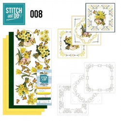 Stitch and do 08 carterie 3D broderie - jonquilles