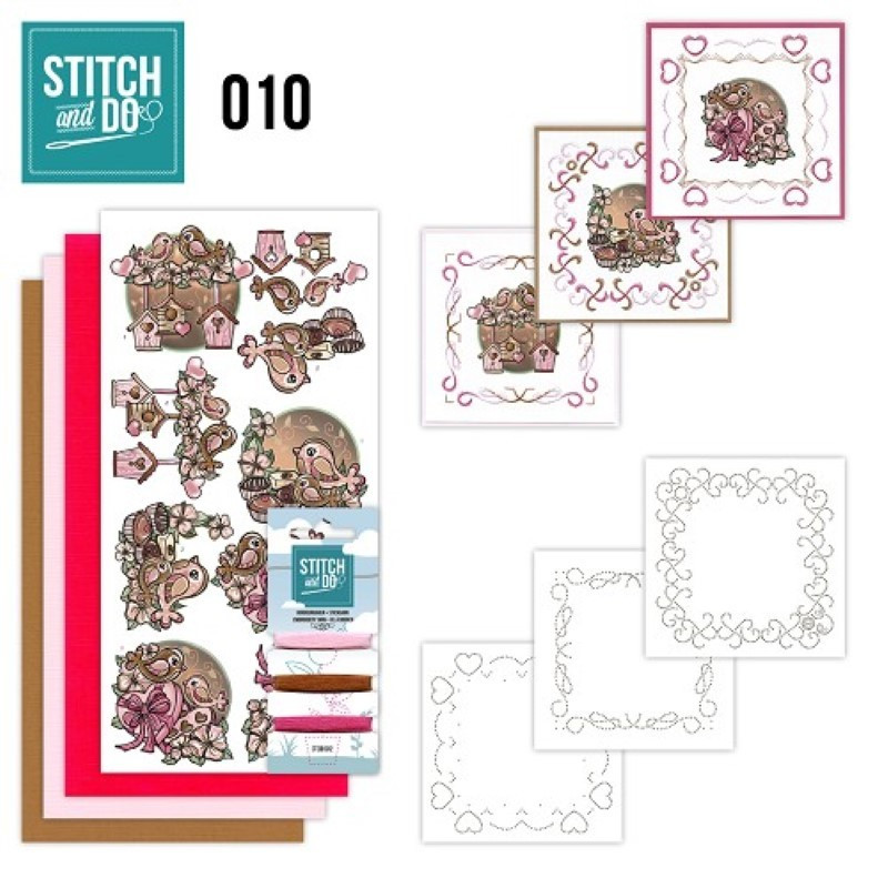 Stitch and do 10 carterie 3D broderie - Mariage et nid d'oiseaux