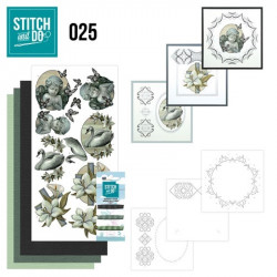 Stitch and do 25 carterie 3D broderie - Condoleances
