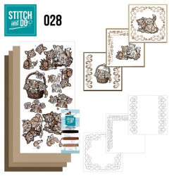 Stitch and do 28 - kit Carte 3D broderie - Chatons
