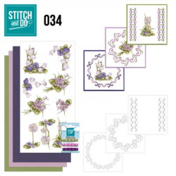 Stitch and do 34 carterie 3D broderie - Fleurs des champs