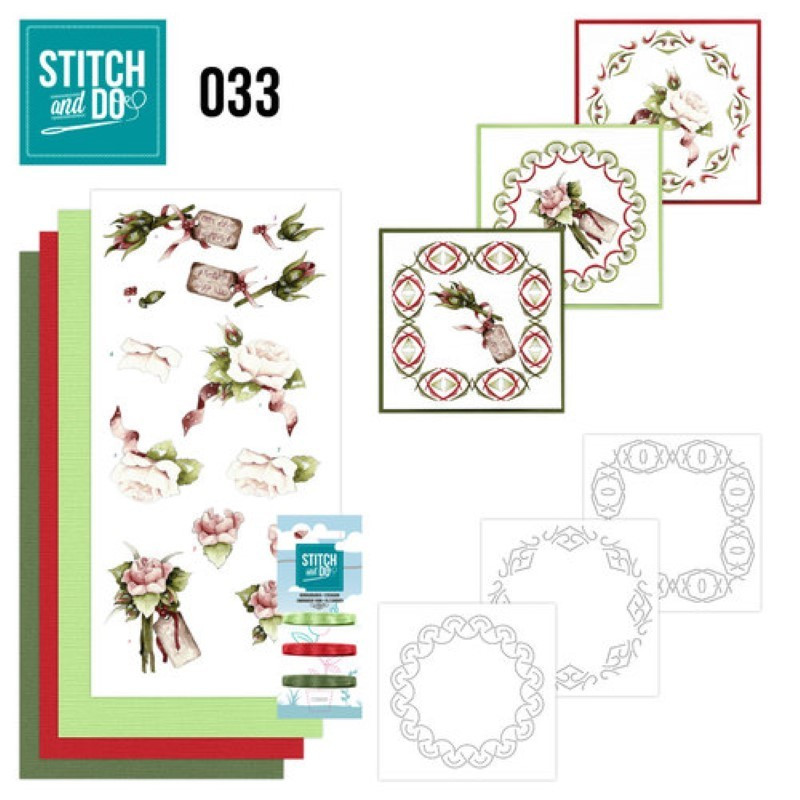 Stitch and do 33 carterie 3D broderie - Roses
