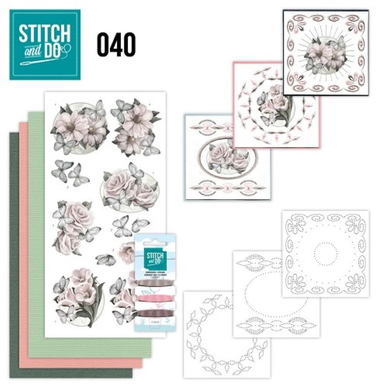 Stitch and do 40 carterie 3D broderie - Fleurs blanches
