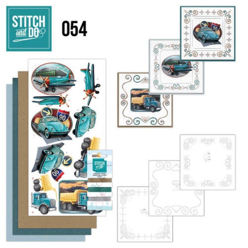 Stitch and do 54 carterie 3D broderie - Vehicules vintage
