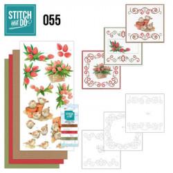Stitch and do 55 - kit Carte 3D broderie - Oiseaux et fleurs