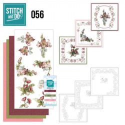 Stitch and do 56 - kit Carte 3D broderie - Bouquet de fleurs