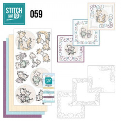Stitch and do 59 - kit Carte 3D broderie - Naissance