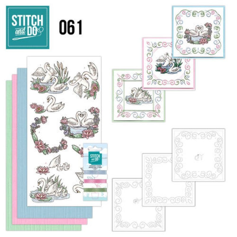 Stitch and do 61 carterie 3D broderie - Cygnes