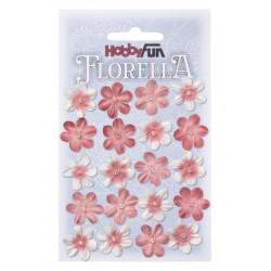 Fleurs en papier 2 cm blanc et hortensia paquet de 20