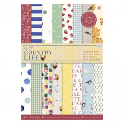 A5 paper pack (36pk) - Country life