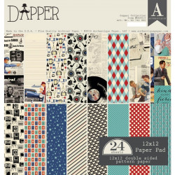 Bloc papier scrap 30.5x30.5cm 24 feuilles Authentique Dapper