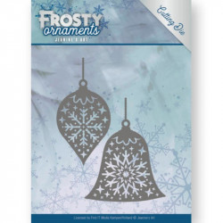 Die - jeaninnes art - Frosty ornaments - Boules de Noël
