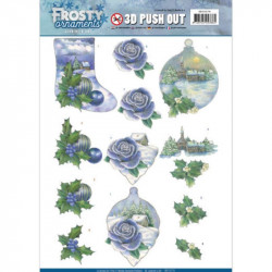 Carte 3D prédéc. - Jeanine's Art - Frosty Ornaments - Paysages enneigés