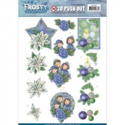 Carte 3D prédéc. - Jeanine's Art - Frosty Ornaments - Lutins et bougies