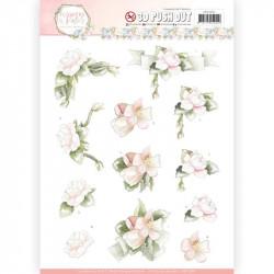 Carte 3D prédéc. - Precious Marieke - Flowers in pastels - Fleurs roses