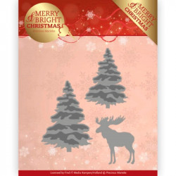 Die - Precious Marieke - Merry and Bright Christmas - Sapins et renne