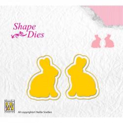 Dies lapins 3.5 x 2.5 cm Lot de 2