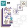 Stitch and do 87 - kit Carte 3D broderie - Fleurs mauves