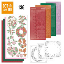 Dot and do 136 - kit Carte 3D - Fleurs de Noël
