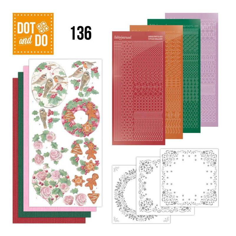 Dot and do 136 - kit Carte 3D - Fleurs de Noël