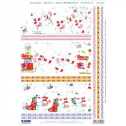 Carte 3D prédéc. - A4 - 82185 - Ours blanc Noël