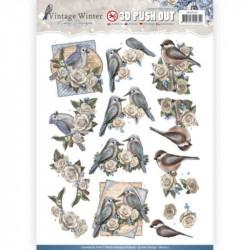 Carterie 3D Prédécoupée - Amy Design - Oiseaux et Fleurs SB10215