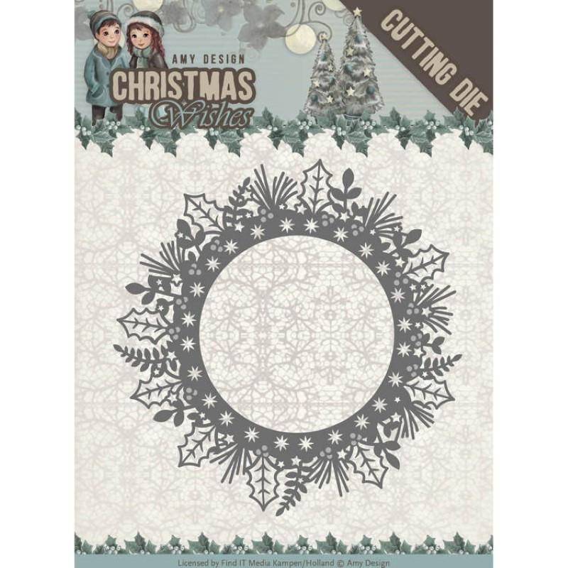 Die - Amy Design - Christmas Wishes - Couronne de Noël 11x11 cm