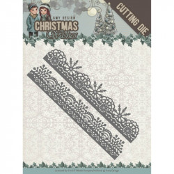 Die - Amy Design - Christmas Wishes - Bordures flocons 13 x 2,4 cm