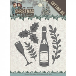Die - Amy Design - Christmas Wishes - Champagne 5,5 x 5,5 cm.