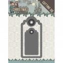 Die - Amy Design - Christmas Wishes - Etiquettes 3,5 x 8 cm, 2,8 x 5,5 cm.