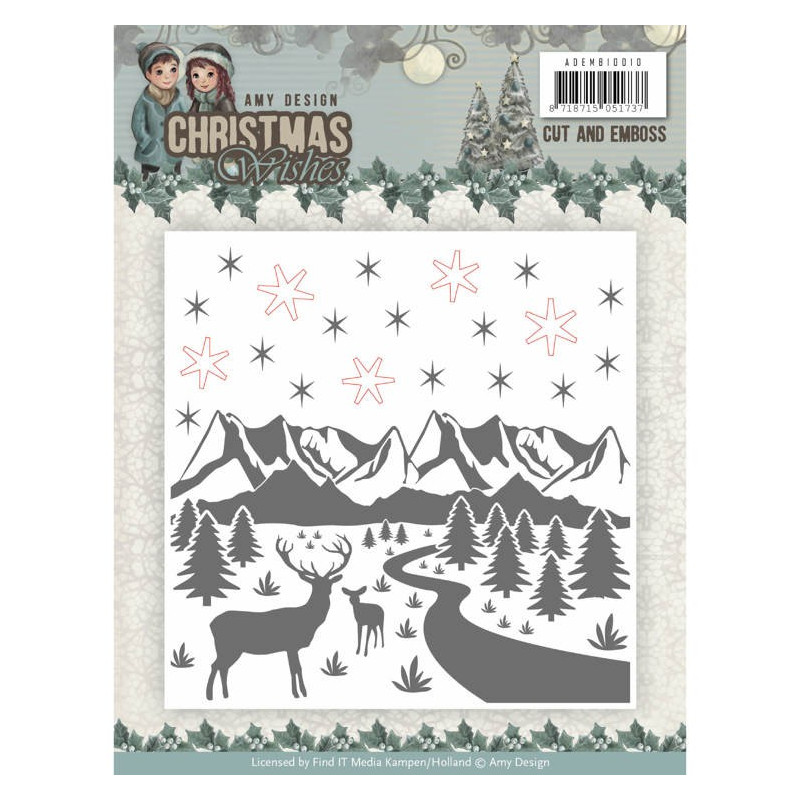 Classeur d'embossage Amy Design Christmas Wishes 12x12 cm