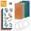 Dot and do 138 - kit Carte 3D - Blue Christmas