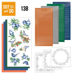 Dot and do 138 - kit Carte 3D - Blue Christmas