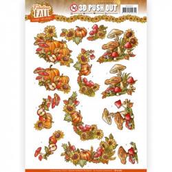 Carte 3D prédéc. - Yvonne Creations - Fabulous Fall - Bouquets d'automne
