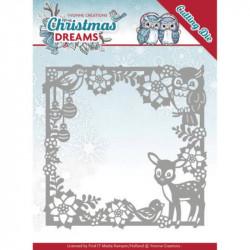 Dies - Yvonne Creations - Christmas Dreams - Cadre animaux à Noël 13x13 cm