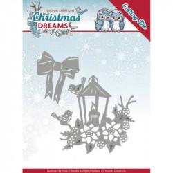 Dies - Yvonne Creations - Christmas Dreams - Lanterne de Noël 7,5x 6,7 cm, 3,7 x 4,7 cm.